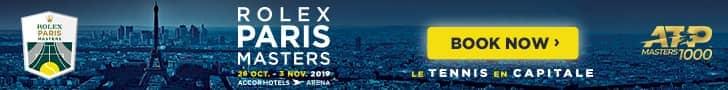 2019 <a href='https://www.atptour.com/en/tournaments/paris/352/overview'>Rolex Paris Masters</a> | Get Tickets Now