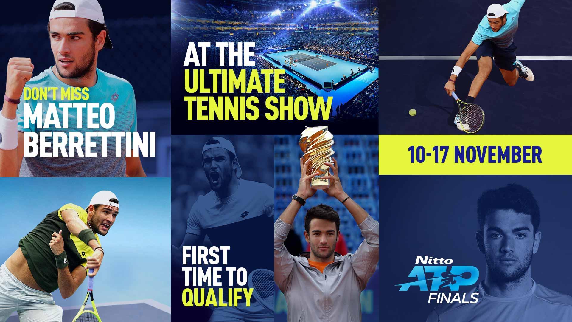 Маттео Берреттини - восьмой участник Итогового турнира ATP