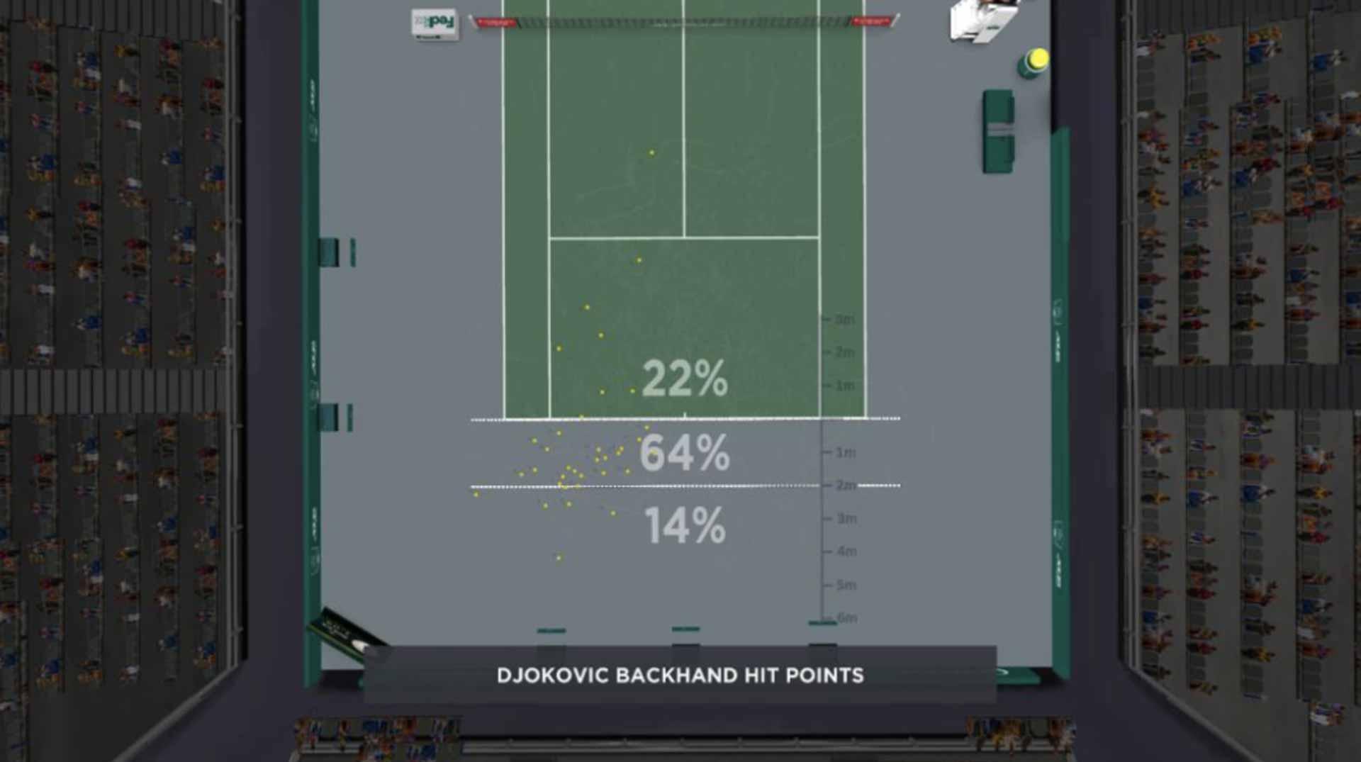 Djokovic Backhand Placement