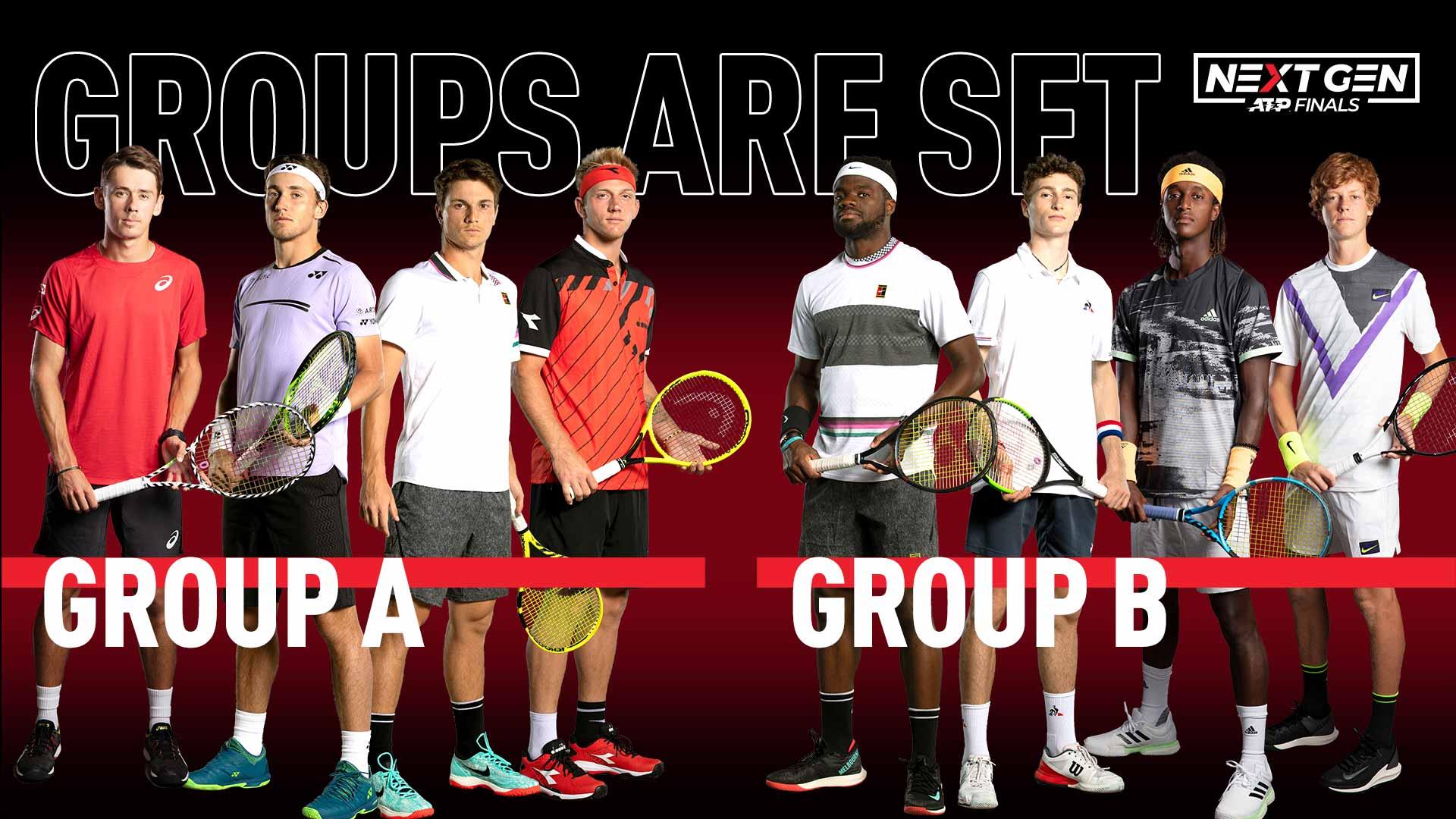Состоялась жеребьевка Итогового турнира Next Gen ATP Finals