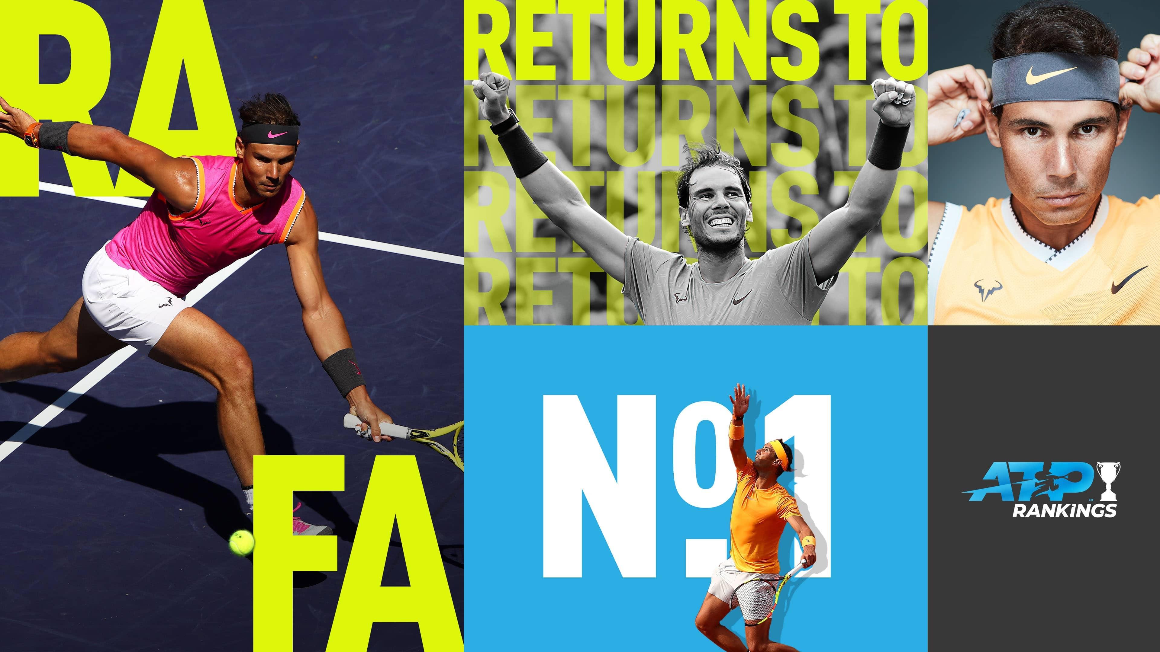 Рафаэль Надаль впервые за год возглавил рейтинг ATP