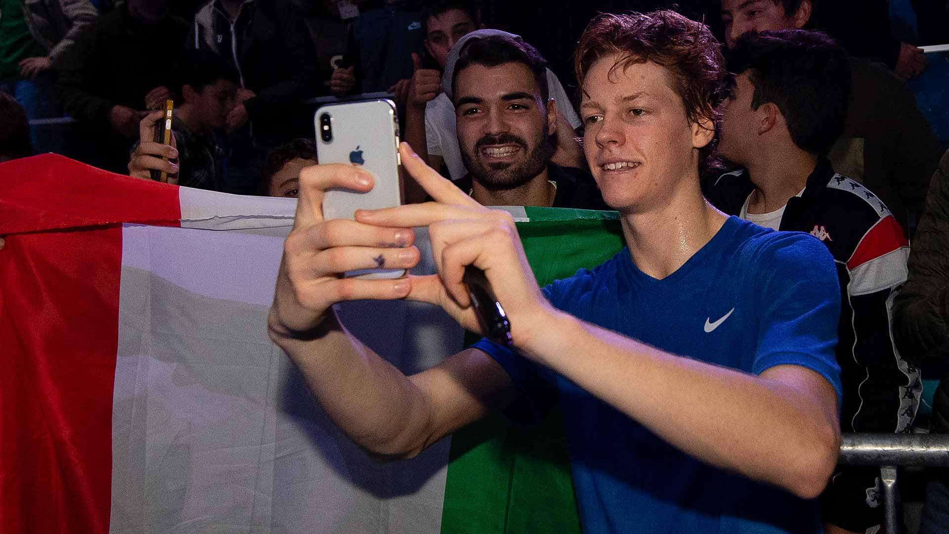 Italy's Jannik Sinner at the 2019 Next Gen ATP Finals in Milan