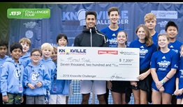 Michael Mmoh is the champion in Knoxville, claiming his first title of 2019.