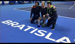 Dennis Novak celebrates his second ATP Challenger Tour title, prevailing in Bratislava.