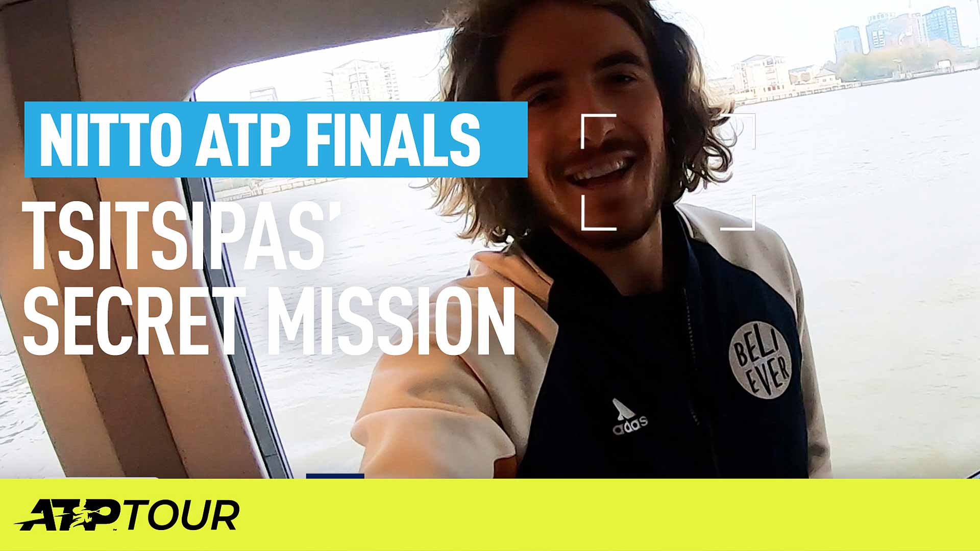 Stefanos Tsitsipas goes on a secret mission at the Nitto ATP Finals in London.