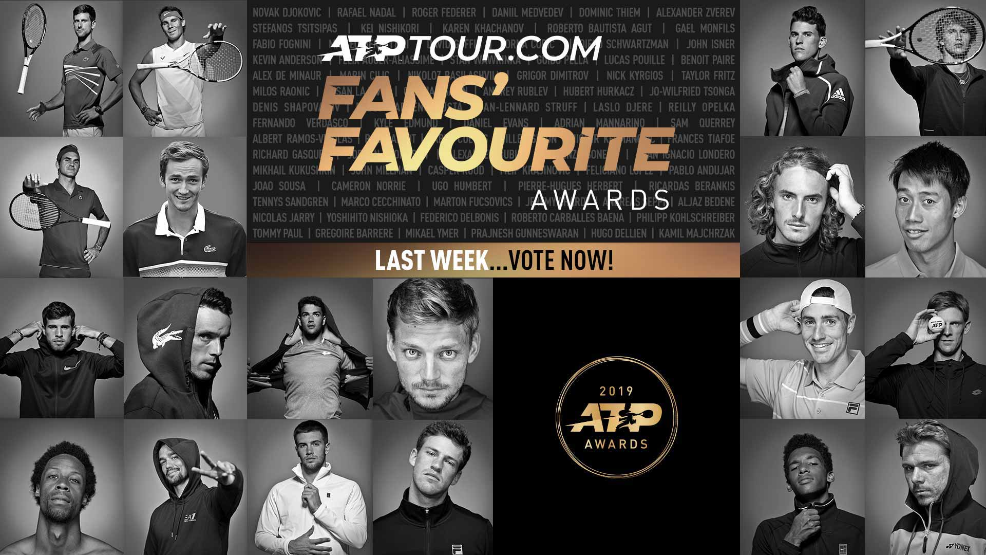 Vote Now: ATPTour.com Fans' Favourite In 2019 ATP Awards