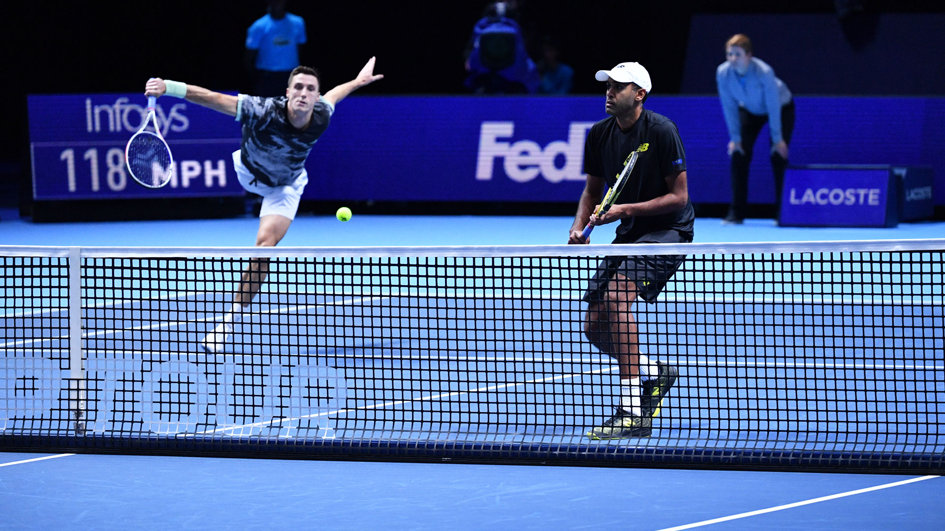 Joe Salisbury and Rajeev Ram pick up their first win in Group Jonas Bjorkman at the Nitto ATP Finals.