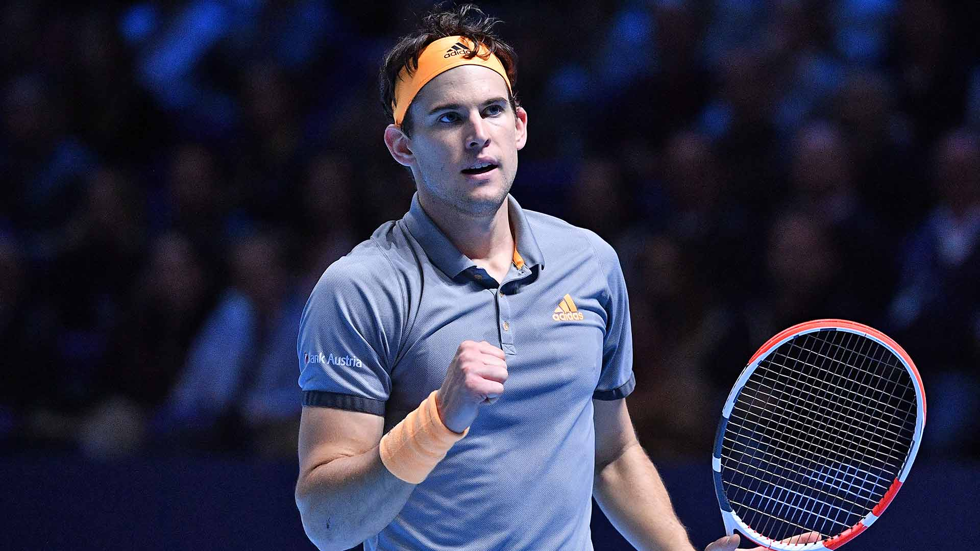 Dominic Thiem beats Novak Djokovic at the Nitto ATP Finals on Tuesday.