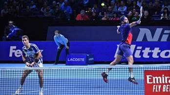 Jean-Julien Rojer and Horia Tecau score their first win in Group Max Mirnyi at the Nitto ATP Finals.