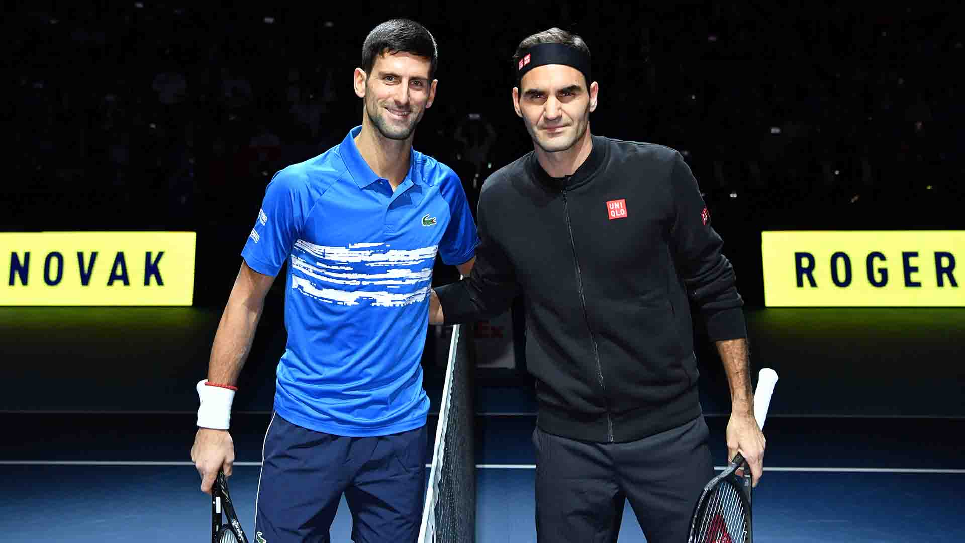Novak Djokovic and Roger Federer are tied at 3-3 in Nitto ATP Finals encounters.