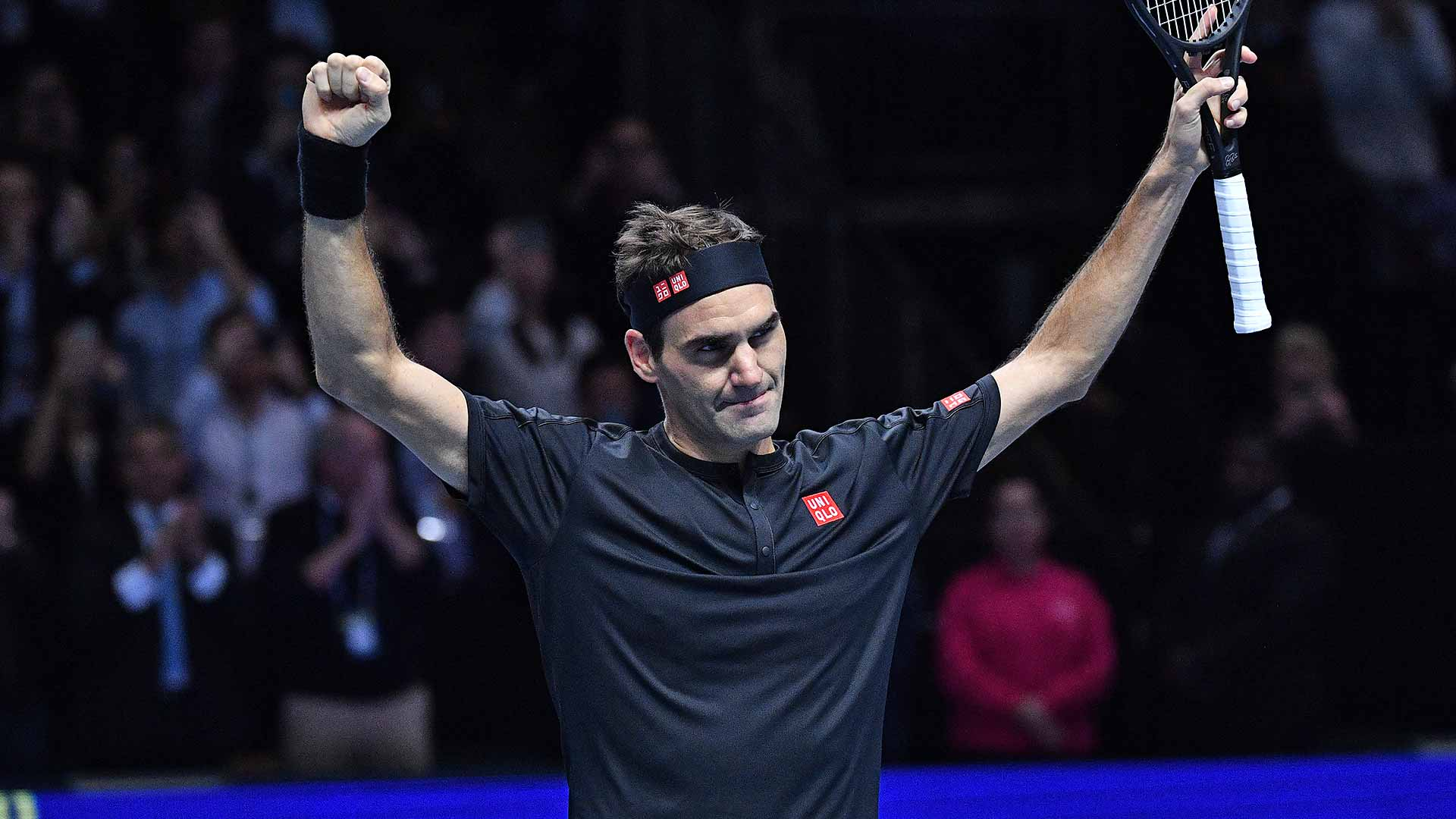 <a href='https://www.atptour.com/en/players/roger-federer/f324/overview'>Roger Federer</a> beats <a href='https://www.atptour.com/en/players/novak-djokovic/d643/overview'>Novak Djokovic</a> for the first time since the 2015 Nitto ATP FInals on Thursday night.