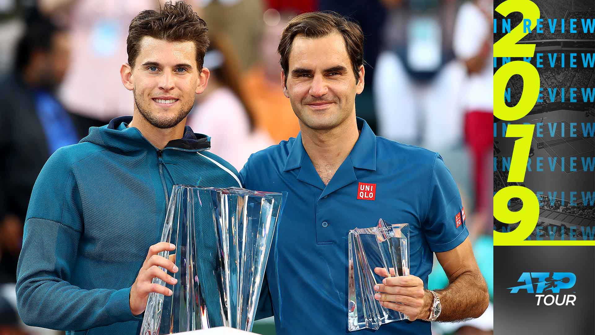 Dominic Thiem and Roger Federer faced off three times in 2019.