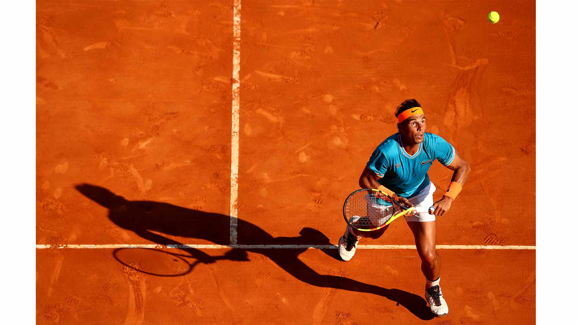 Photographer Clive Brunkill's Best of 2019 pick: <a href='https://www.atptour.com/en/players/rafael-nadal/n409/overview'>Rafael Nadal</a> in action at the 2019 <a href='https://www.atptour.com/en/tournaments/atp-masters-1000-monte-carlo/410/overview'>Rolex Monte-Carlo Masters</a>.