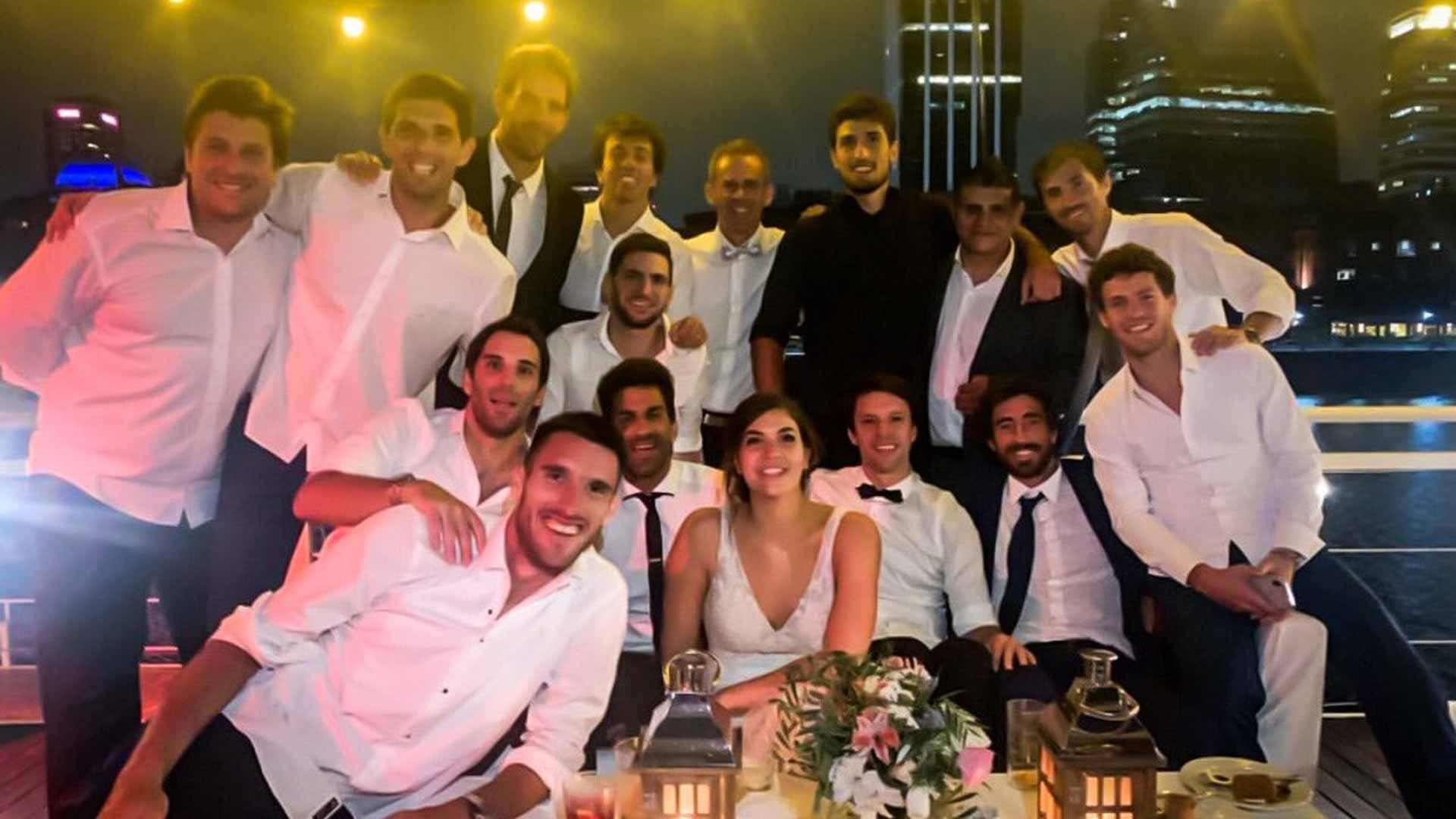 Leonardo Mayer wedding party