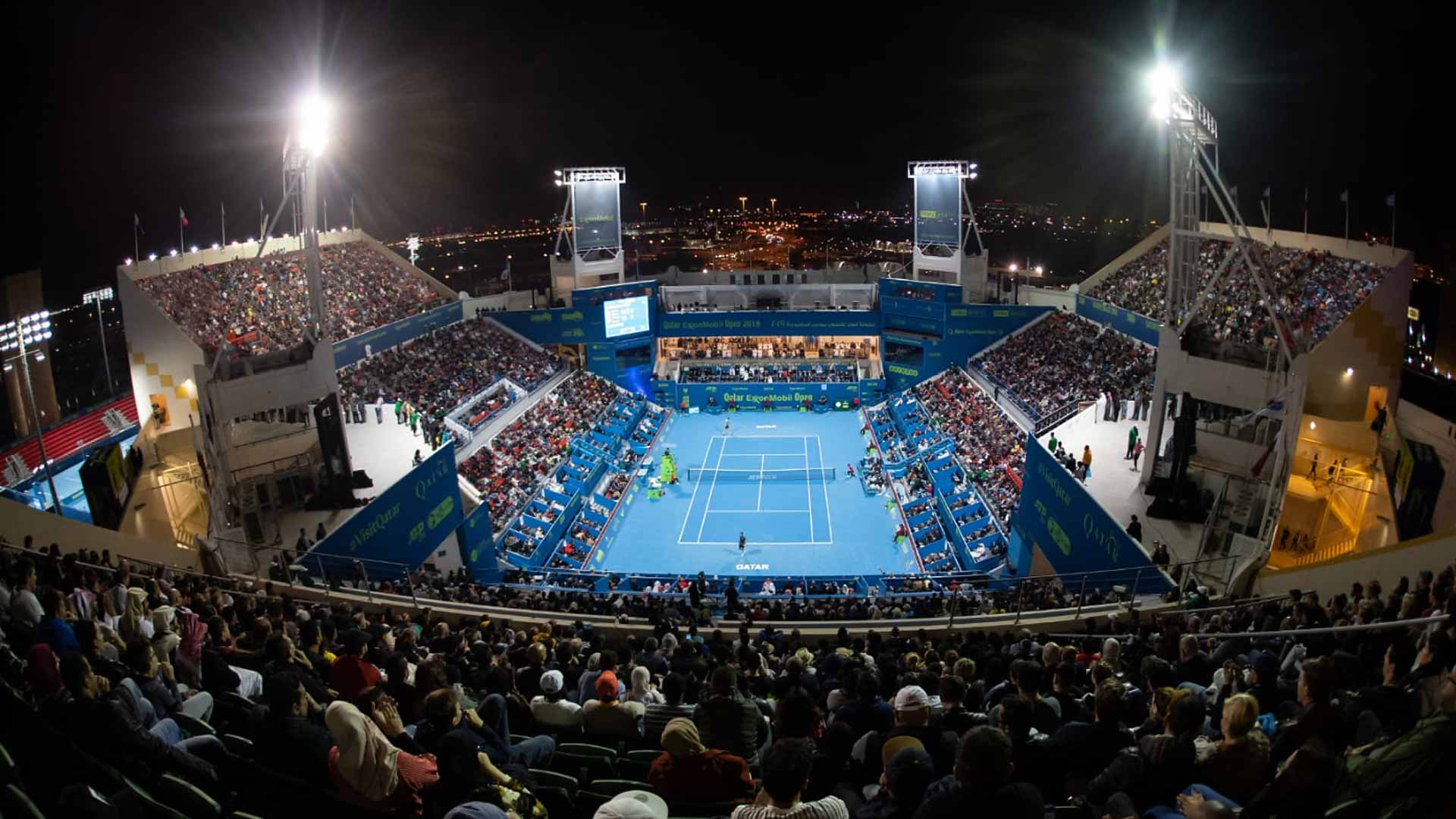 The <a href='https://www.atptour.com/en/tournaments/doha/451/overview'>Qatar ExxonMobil Open</a> in Doha claims the Tournament of the Year award in the 250 category in the 2019 ATP Awards.
