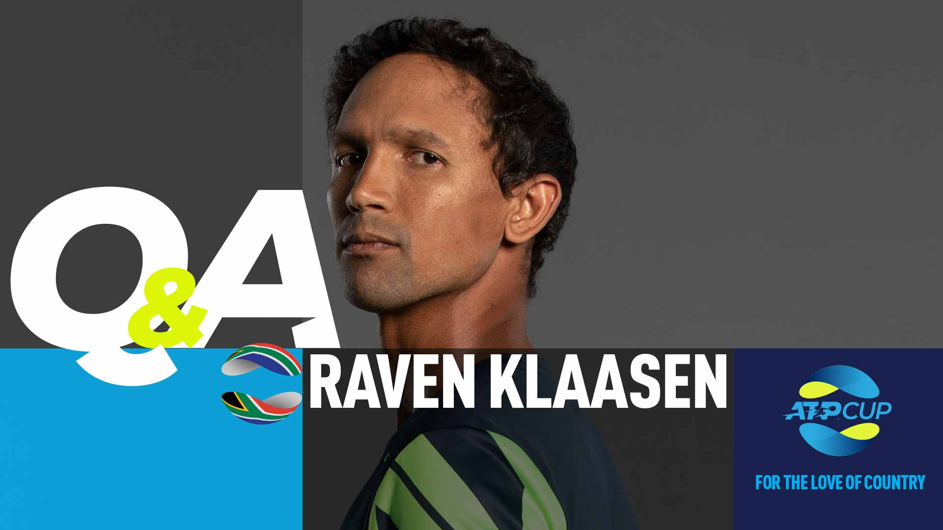 Raven Klaasen at the ATP Cup