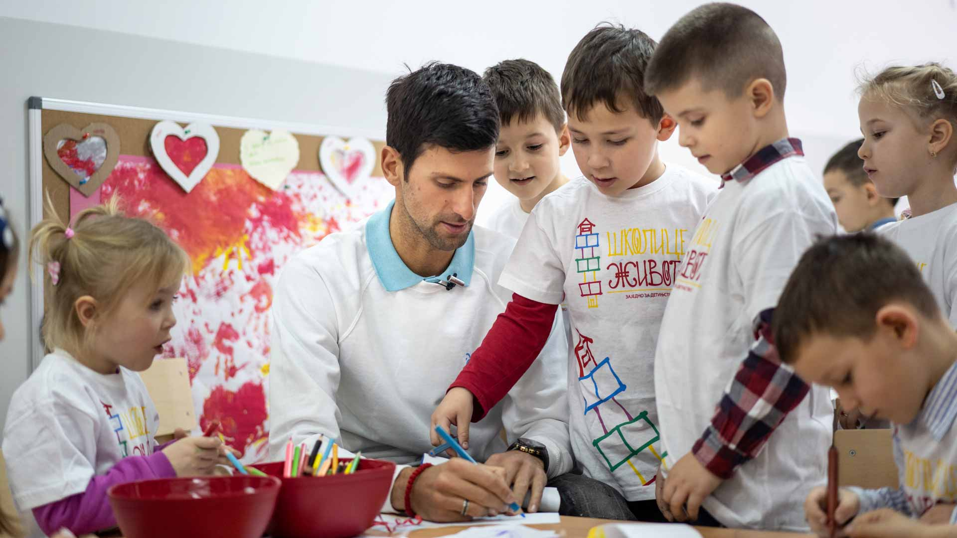 The Novak Djokovic Foundation, one of nine ATP ACES For Charity grant recipients, focusses its efforts on helping young children gain access to preschool education.