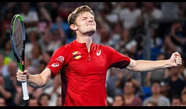 Goffin Celebration ATP Cup 2020 Day 8