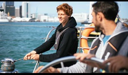 Jannik Sinner takes in the sights of Auckland Harbour before beginning his campaign at the ASB Classic.