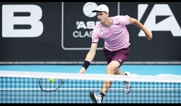 Hubert Hurkacz prevails against Lorenzo Sonego in in the first match of the 2020 ASB Classic.