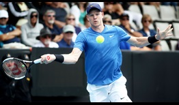 Kyle Edmund picks up his first win of the season at the ASB Classic in Auckland.