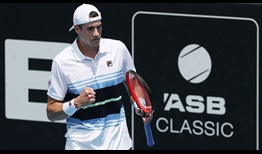 John Isner has hit 41 aces en route to reaching the semi-finals in Auckland.