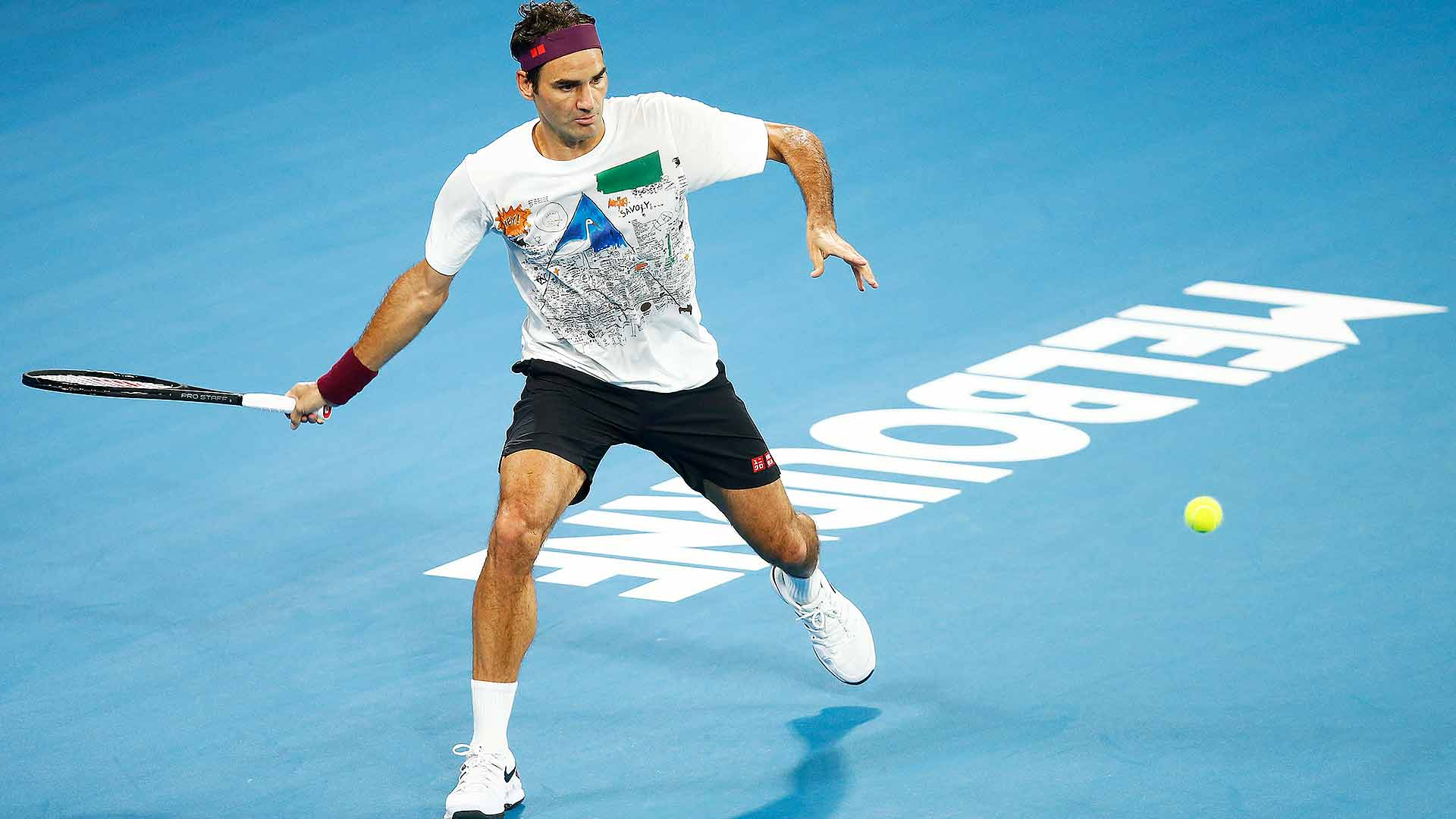 Roger Federer is going for his seventh Australian Open title this fortnight.