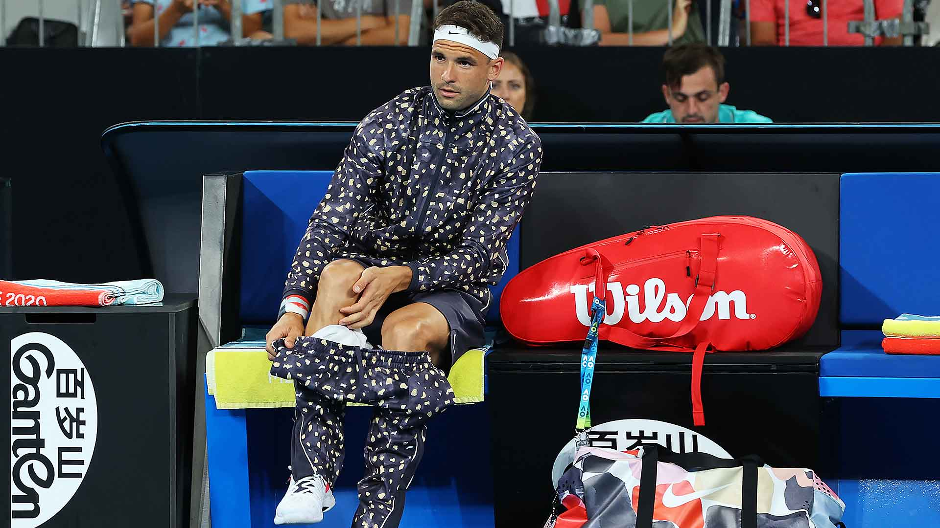 Grigor Dimitrov is happy to be different with his fashion choices.