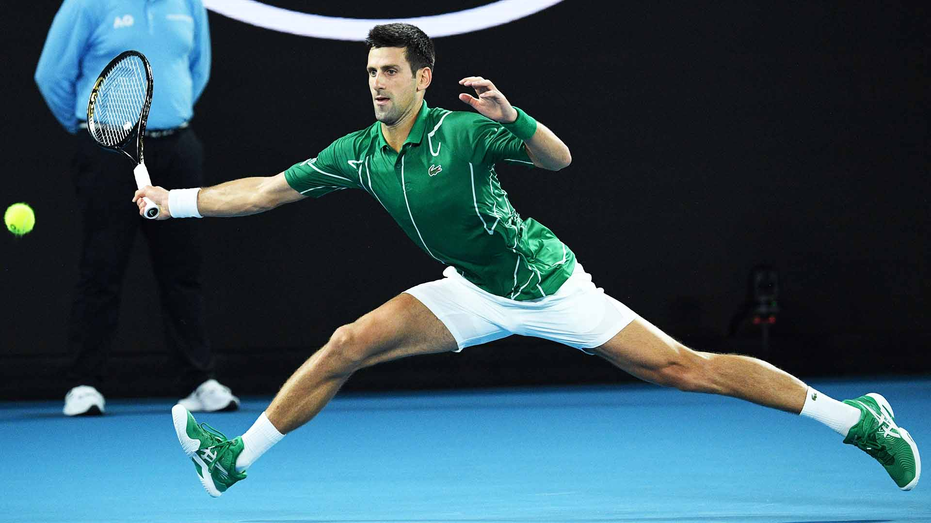 <a href='https://www.atptour.com/en/players/novak-djokovic/d643/overview'>Novak Djokovic</a> is unbeaten in 2020.