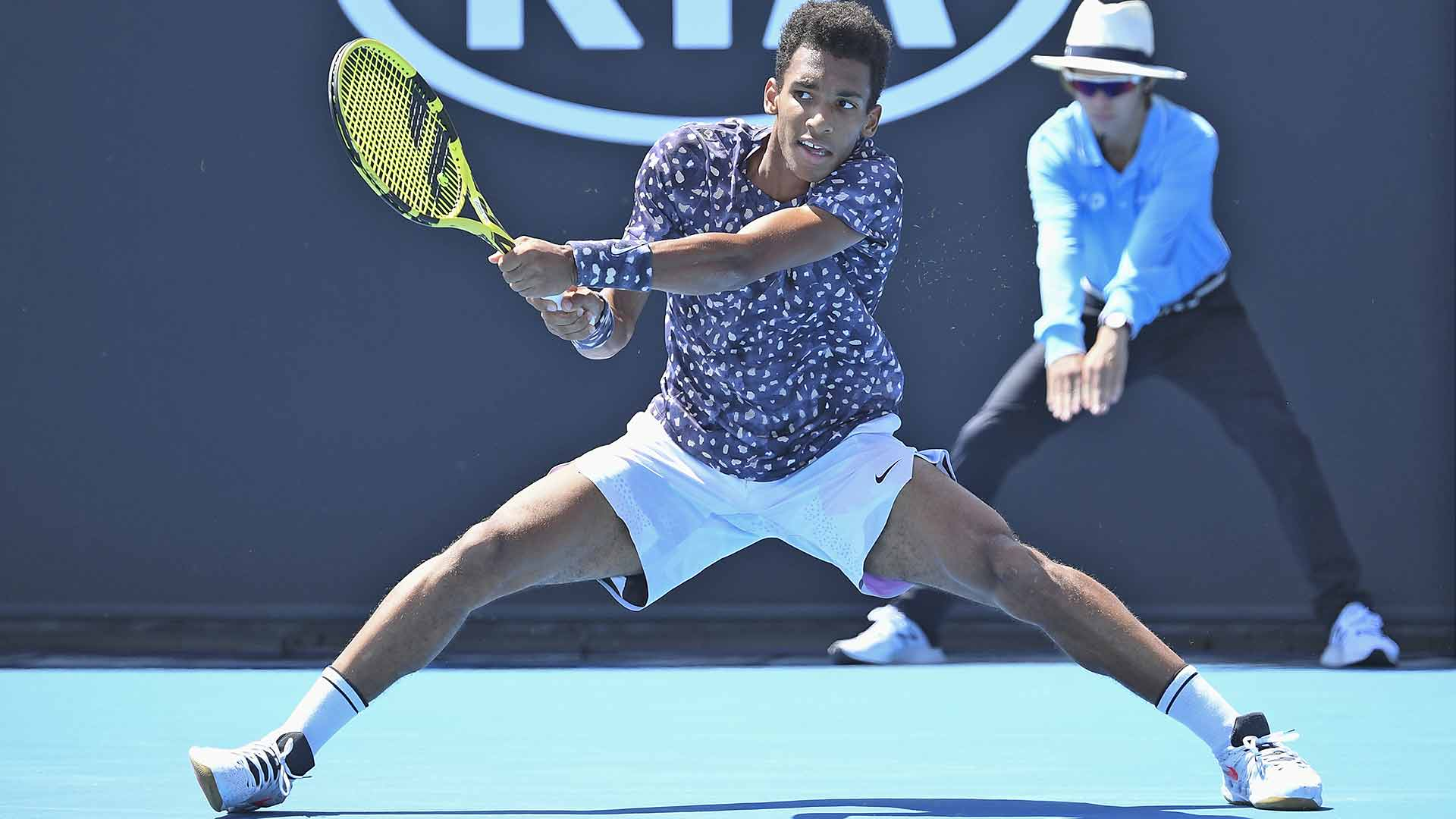 Felix Auger-Aliassime bows out in the first round of the Australian Open.