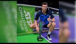 Arthur Rinderknech is the champion in Rennes, claiming his maiden ATP Challenger Tour title.