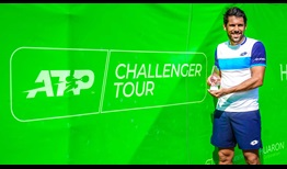 Federico Gaio lifts his fourth ATP Challenger Tour trophy in Bangkok.
