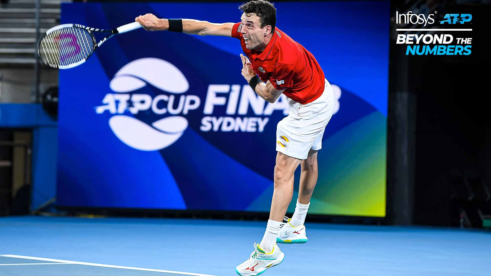 Roberto Bautista Agut's second-serve success helped Spain reach the ATP Cup final in Sydney last month.
