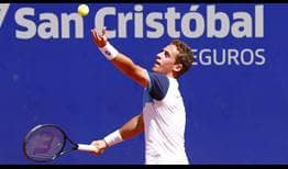Roberto Carballes Baena earns his first victory of the 2020 ATP Tour season at the Argentina Open on Tuesday.