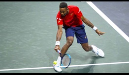 Gael Monfils is aiming to lift his second straight ABN AMRO World Tennis Tournament title.