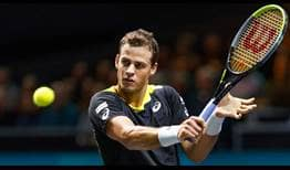 Vasek Pospisil is making his third appearance at the ABN AMRO World Tennis Tournament.
