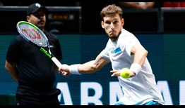 Pablo Carreno Busta becomes the first Spaniard to reach the Rotterdam semi-finals since 2009 with victory over Jannik Sinner on Friday.