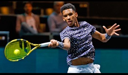 Felix Auger-Aliassime beats Aljaz Bedene on Friday for a place in the Rotterdam semi-finals.