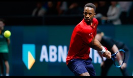Third seed and defending champion Gael Monfils beats Daniel Evans on Friday for a place in the Rotterdam semi-finals.