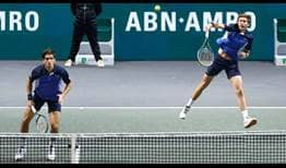 Pierre-Hugues Herbert and Nicolas Mahut extend their ABN AMRO World Tennis Tournament winning streak to six matches.