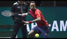 Gael Monfils is attempting to win back-to-back ABN AMRO World Tennis Tournament titles.