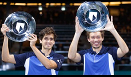 Pierre-Hugues Herbert and Nicolas Mahut own a 16-6 record in tour-level doubles finals as a team.