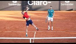 Horacio Zeballos and Marcel Granollers sprint into the quarter-finals at the Rio Open presented by Claro.