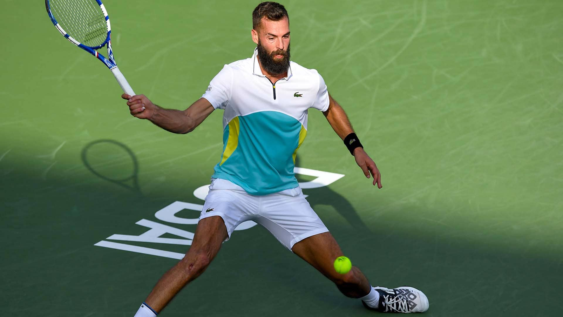 Benoit Paire will face Richard Gasquet in the Dubai Duty Free Tennis Championships second round.