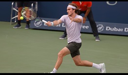Second seed Stefanos Tsitsipas beats Alexander Bublik on Wednesday in Dubai for the second time in five days.