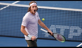 Second seed Stefanos Tsitsipas beats Jan-Lennard Struff on Thursday for a place in the Dubai semi-finals.