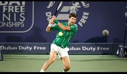 World No. 1 Novak Djokovic improves to 16-0 in 2020 after beating Karen Khachanov on Thursday in Dubai.