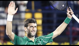 Novak Djokovic is aiming to win a fifth Dubai Duty Free Tennis Championships title.