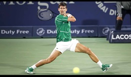 Novak Djokovic owns a 4-1 record in Dubai Duty Free Tennis Championships finals.