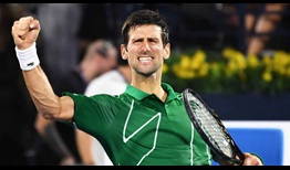 Novak Djokovic improves to 3-2 in his ATP Head2Head series against Stefanos Tsitsipas.